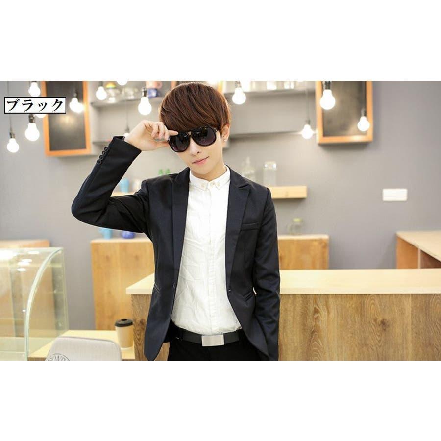 ジャケット メンズ カジュアル 長袖 1ボタン スーツ ファッション カラー豊富 おしゃれコーデ 男性 アウター 10