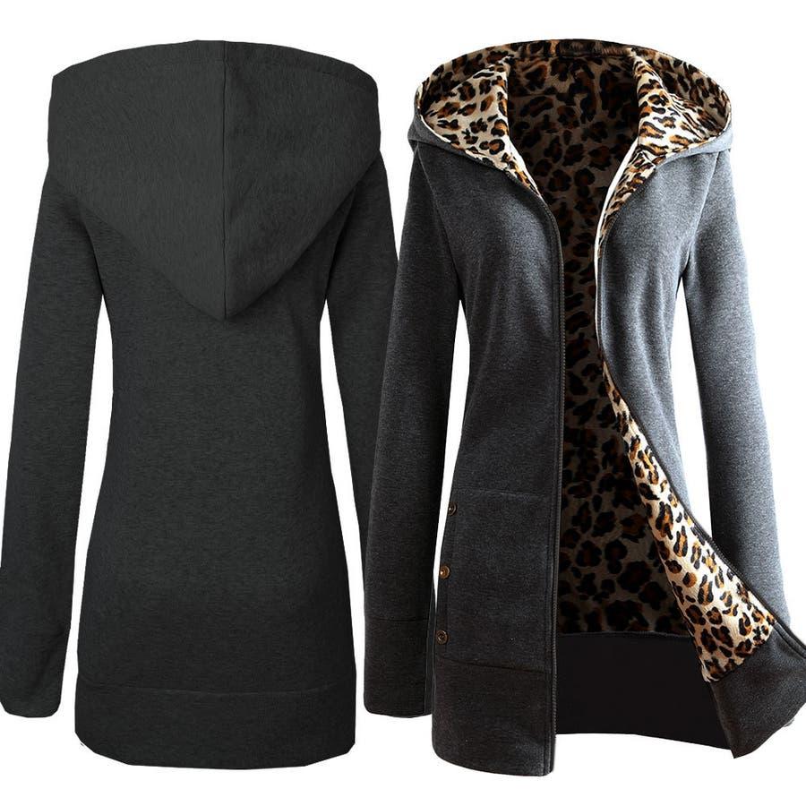 レディース ジップアップパーカー 長袖 裏起毛 ロング丈 フード付き ポケット タイト スリム 暖かい あったかい おしゃれ シンプル女性用 婦人用 XS S M L XL 2XL 3XL ジッパー チャック ファスナー 4