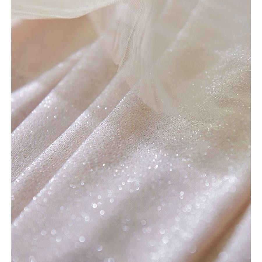 チュールスカート ロングスカート レディース ラメ ゴールド 大人可愛い 可愛い かわいい カジュアル レディーススカートロングスカート チュール ピンク ホワイト グレー シルバー 4