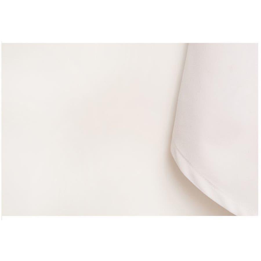 フェイクレイヤードシャツ レディース ボトムス 無地 着回し ブラック ホワイト ボタン オールシーズン 重ね着風コーデ 8