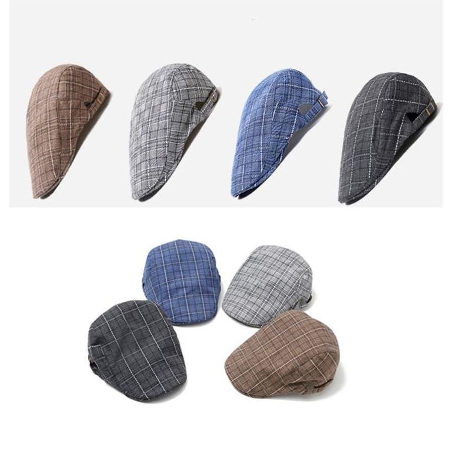 帽子 ハンチング帽 メンズ レディース 男女兼用 格子縞模様 調整可能 ファッション小物 キャップ 日除け 熱中症対策 UV対策お出掛け カジュアル おしゃれ 2