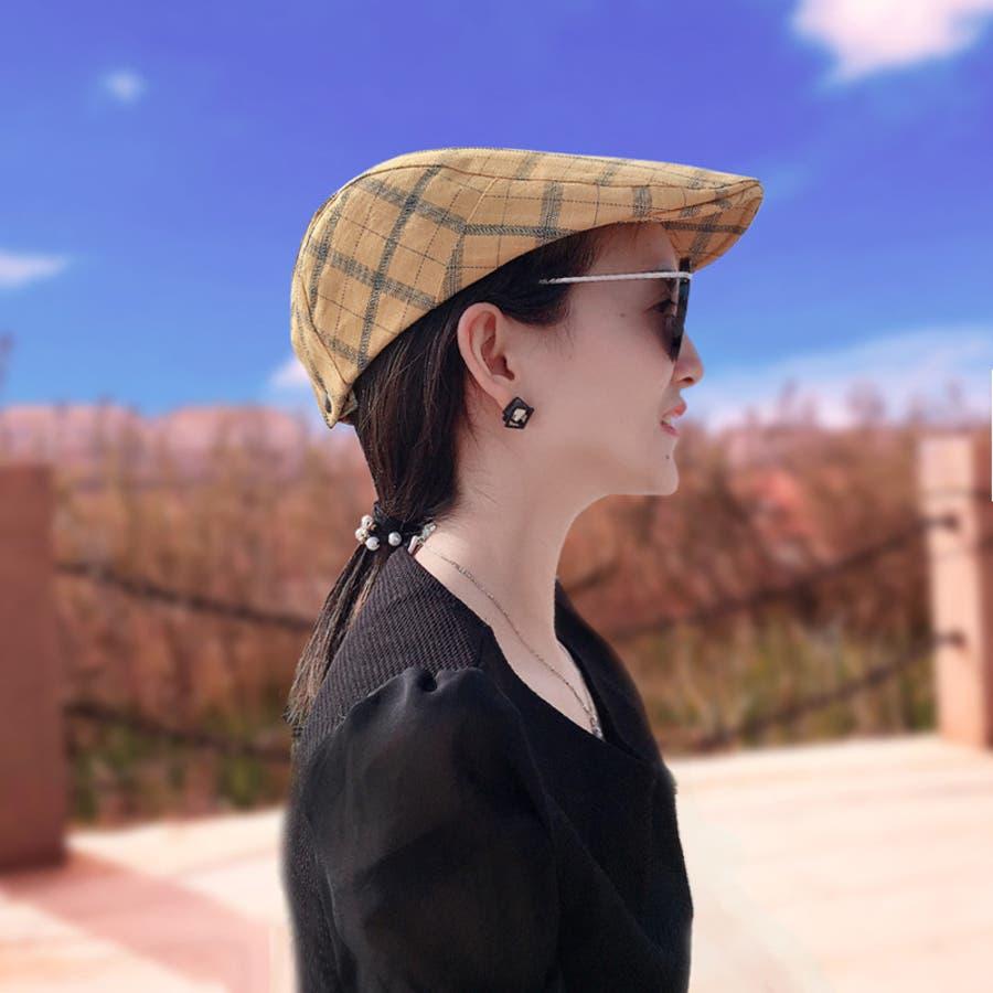 帽子 ハンチング帽 メンズ レディース 男女兼用 格子縞模様 調整可能 ファッション小物 キャップ 日除け 熱中症対策 UV対策お出掛け カジュアル おしゃれ 3
