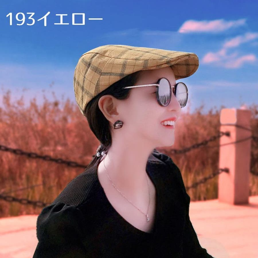 帽子 ハンチング帽 メンズ レディース 男女兼用 格子縞模様 調整可能 ファッション小物 キャップ 日除け 熱中症対策 UV対策お出掛け カジュアル おしゃれ 4