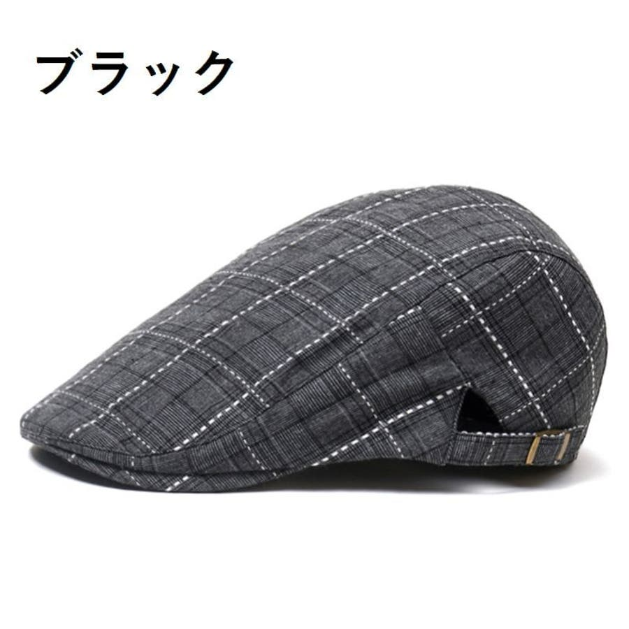 帽子 ハンチング帽 メンズ レディース 男女兼用 格子縞模様 調整可能 ファッション小物 キャップ 日除け 熱中症対策 UV対策お出掛け カジュアル おしゃれ 8
