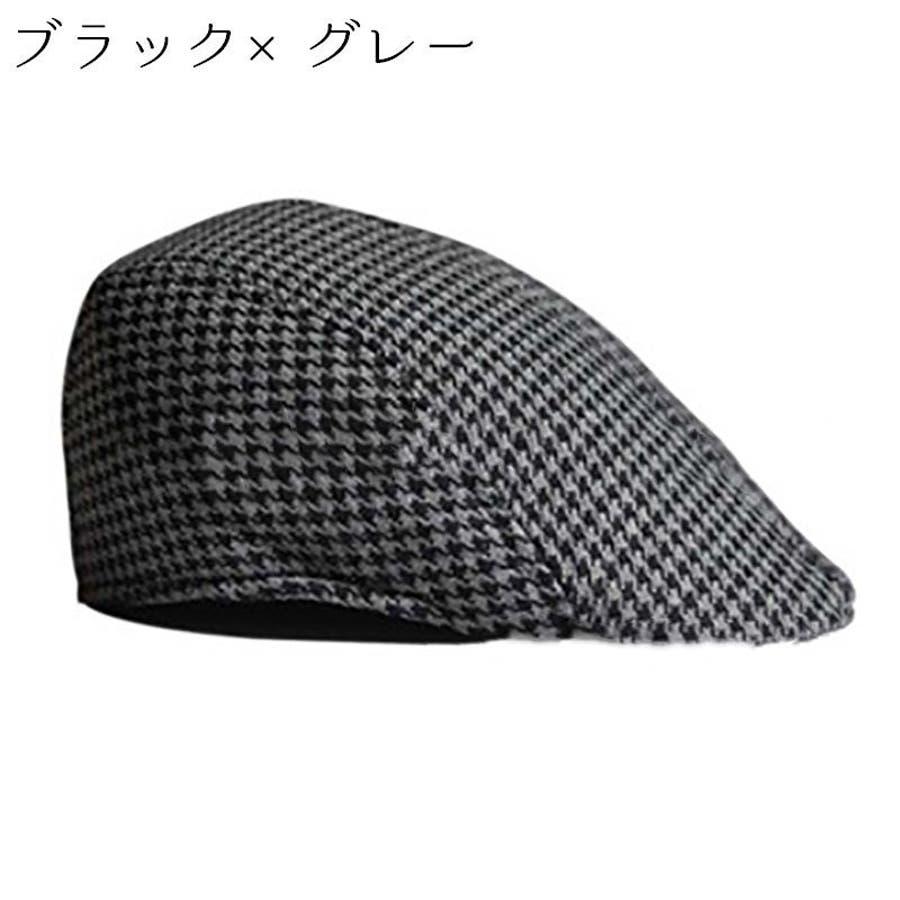ハンチング 帽子 カジュアル お洒落 カッコいい シンプル クラシカル ファッション 小物 千鳥柄 親子コーデ 親子お揃い 紳士 子供大人 メンズ キッズ 5