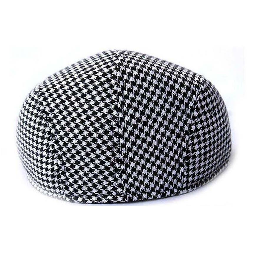 ハンチング 帽子 カジュアル お洒落 カッコいい シンプル クラシカル ファッション 小物 千鳥柄 親子コーデ 親子お揃い 紳士 子供大人 メンズ キッズ 6