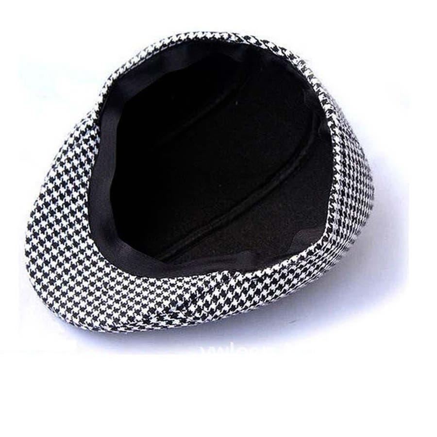 ハンチング 帽子 カジュアル お洒落 カッコいい シンプル クラシカル ファッション 小物 千鳥柄 親子コーデ 親子お揃い 紳士 子供大人 メンズ キッズ 7