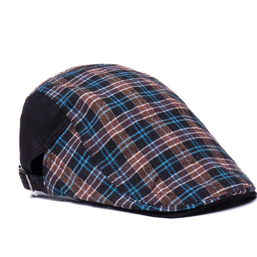 ハンチング帽 メンズ レディース 帽子 ファッション小物 チェック柄 トラッド おしゃれ 春夏 ハンチングベレー ハンチングキャップ鳥打ち帽 スポーツ ゴルフ 2