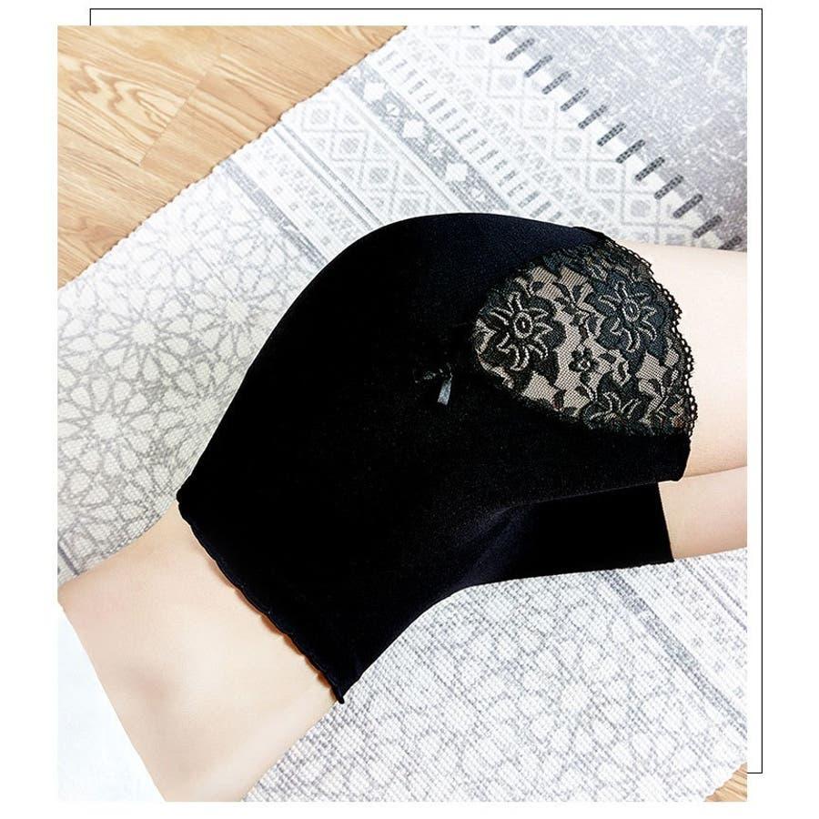 ペチパンツ タップパンツ ペチコートパンツ インナーパンツ スパッツ レディース 女性下着 レース リボン ショートパンツランジェリー シンプル 単色 ソリッドカラー 女性用 婦人用 白 黒 灰色 肌色 3