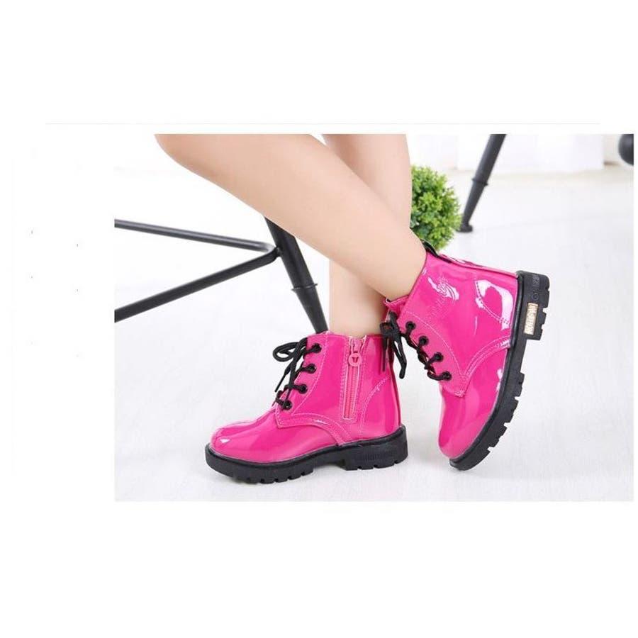 ブーツ 子供用ブーツ キッズブーツ ジュニアブーツ ショートブーツ レインブーツ 防水 編み上げ レースアップブーツ 男の子 女の子シューズ 13.0cm〜22.5cm 5