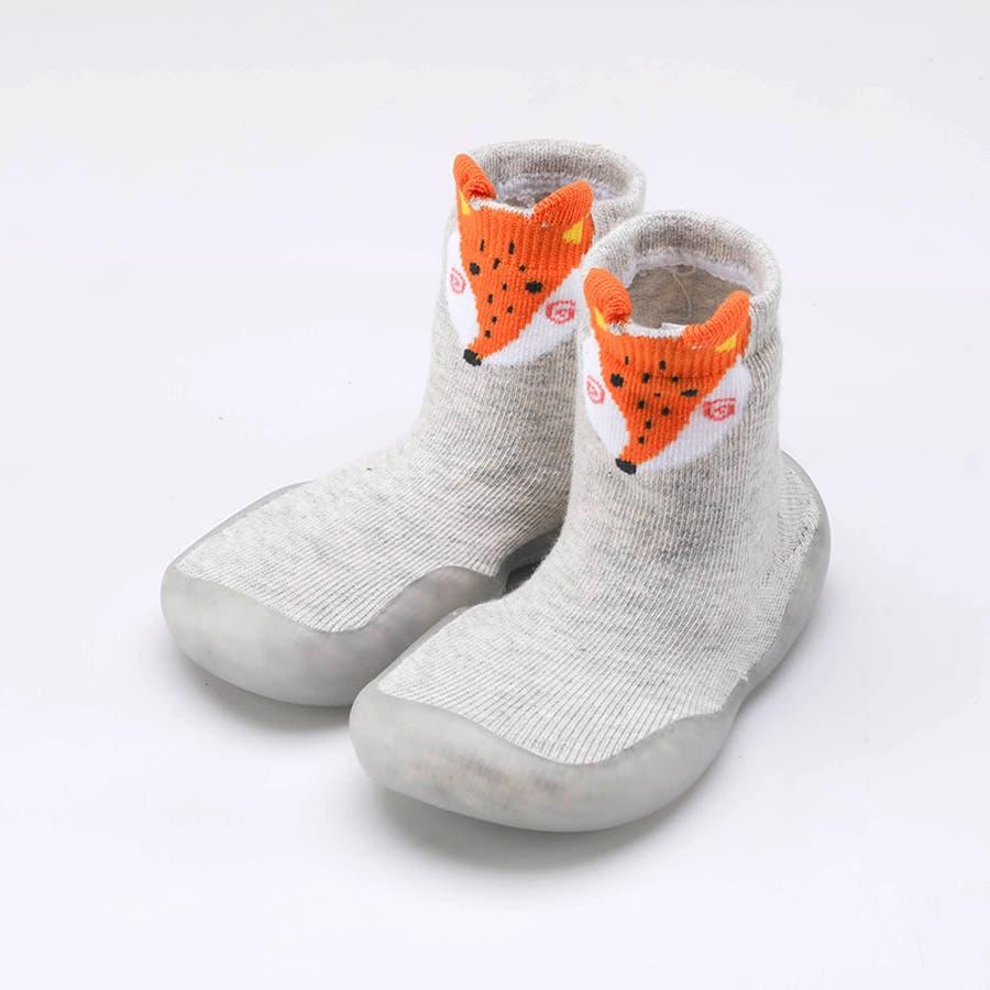 ベビーシューズ ソックスシューズ 靴 靴下 赤ちゃん 男の子 女の子 滑り止め アニマル柄 動物 可愛い 出産祝い プレゼント ギフト 3
