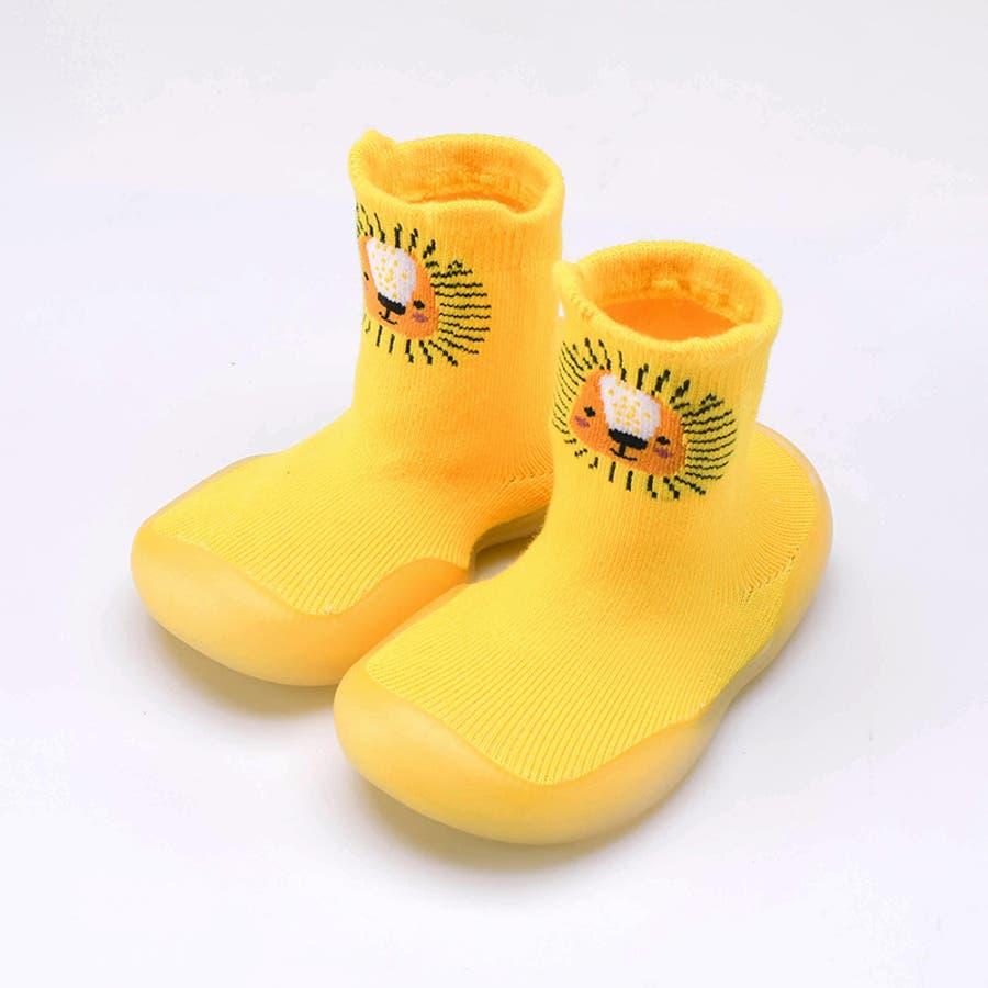 ベビーシューズ ソックスシューズ 靴 靴下 赤ちゃん 男の子 女の子 滑り止め アニマル柄 動物 可愛い 出産祝い プレゼント ギフト 4