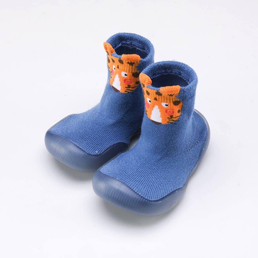 ベビーシューズ ソックスシューズ 靴 靴下 赤ちゃん 男の子 女の子 滑り止め アニマル柄 動物 可愛い 出産祝い プレゼント ギフト 5