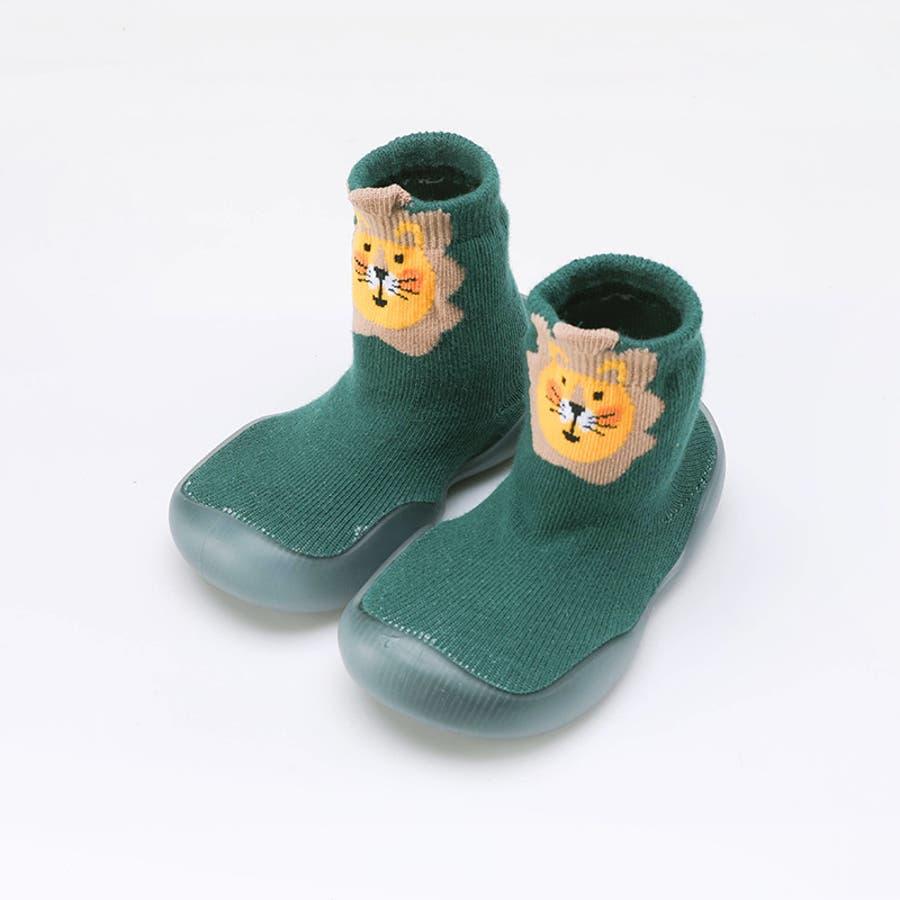 ベビーシューズ ソックスシューズ 靴 靴下 赤ちゃん 男の子 女の子 滑り止め アニマル柄 動物 可愛い 出産祝い プレゼント ギフト 6
