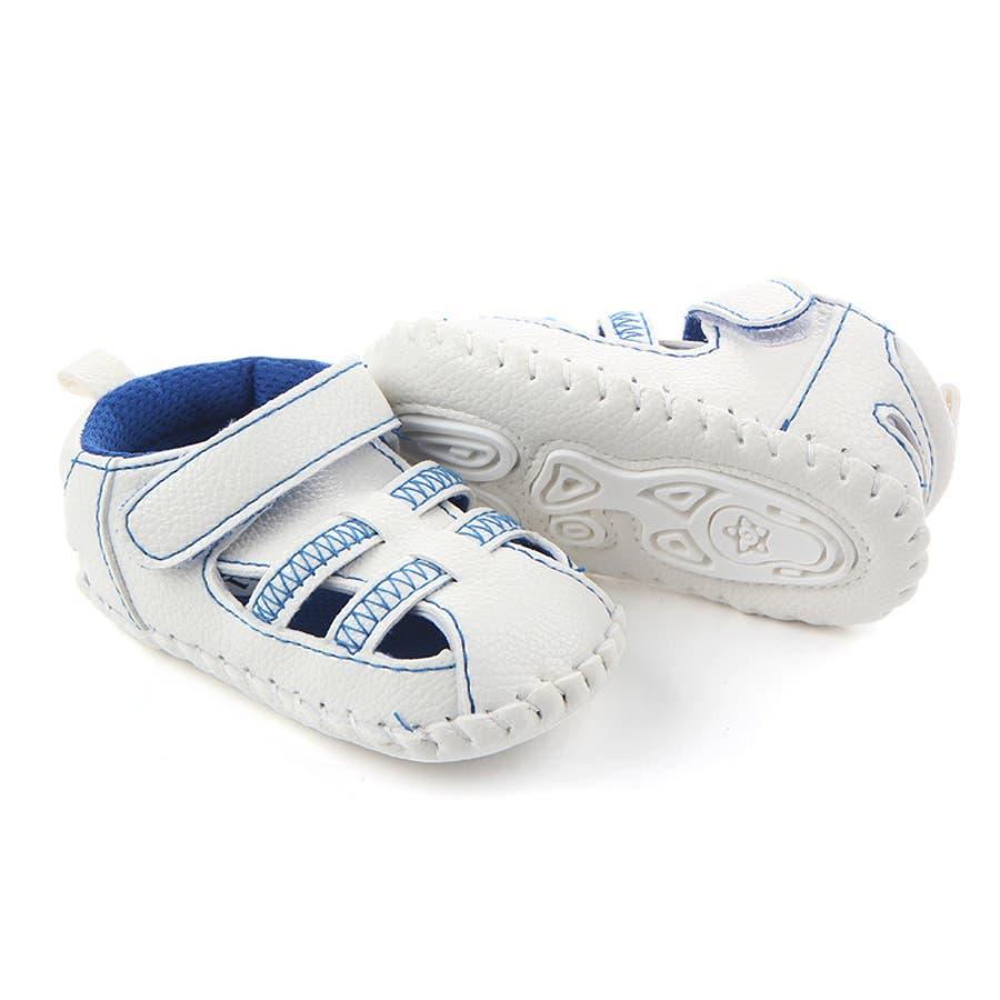 ファーストシューズ シューズ サンダル 11-13cm ベビー 赤ちゃん 子供 男女兼用 男の子 女の子 靴 くつ シンプル 夏用 3