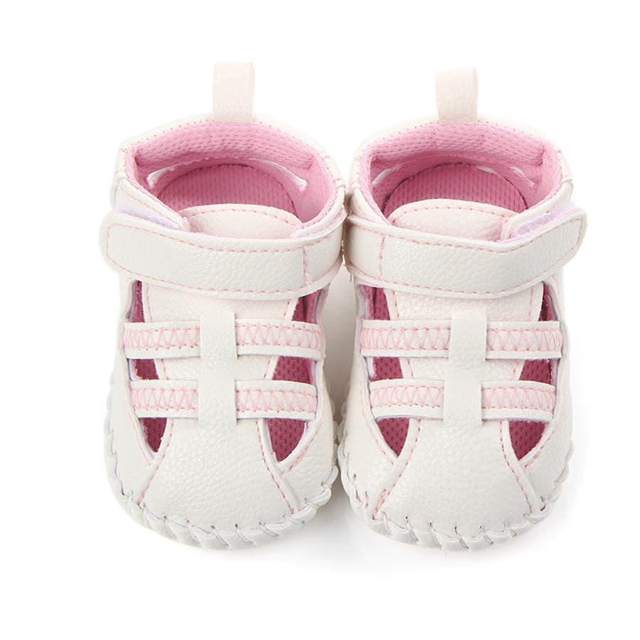 ファーストシューズ シューズ サンダル 11-13cm ベビー 赤ちゃん 子供 男女兼用 男の子 女の子 靴 くつ シンプル 夏用 4