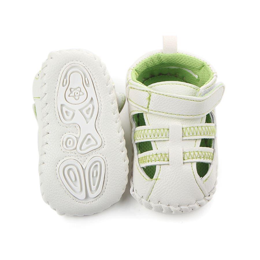 ファーストシューズ シューズ サンダル 11-13cm ベビー 赤ちゃん 子供 男女兼用 男の子 女の子 靴 くつ シンプル 夏用 5