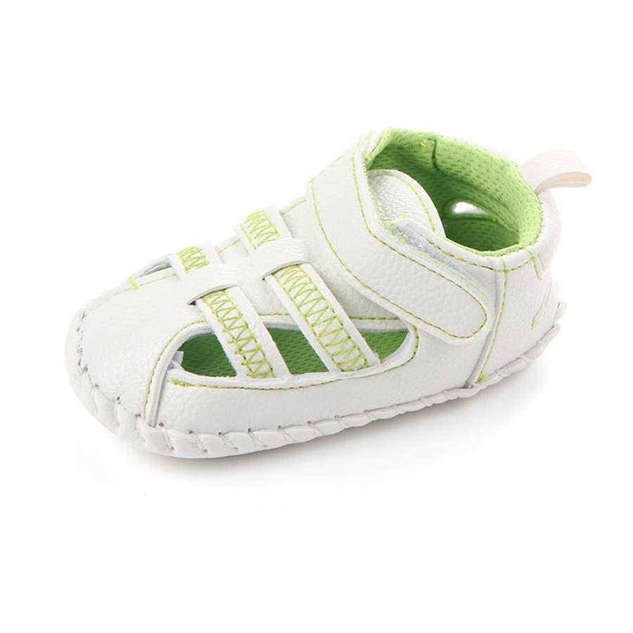 ファーストシューズ シューズ サンダル 11-13cm ベビー 赤ちゃん 子供 男女兼用 男の子 女の子 靴 くつ シンプル 夏用 7
