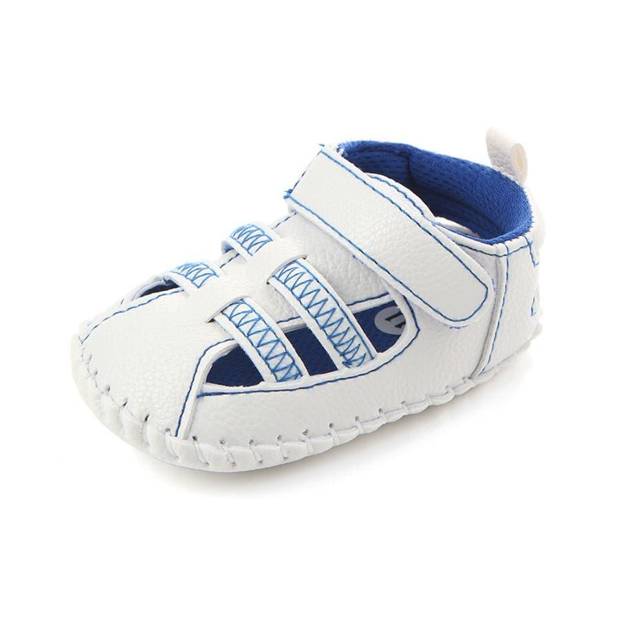 ファーストシューズ シューズ サンダル 11-13cm ベビー 赤ちゃん 子供 男女兼用 男の子 女の子 靴 くつ シンプル 夏用 8