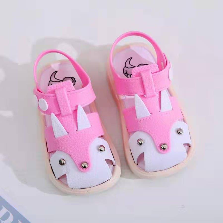 子ども用 サンダル 靴 シューズ 女の子 女児 キッズ ベビー 子供用 バックストラップ 無地 うさぎモチーフ 動きやすい 歩きやすい春 夏 涼しい かわいい おしゃれ 10