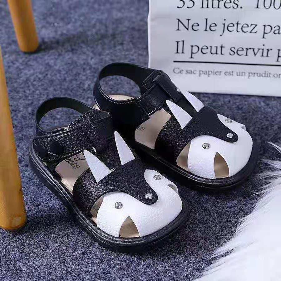 子ども用 サンダル 靴 シューズ 女の子 女児 キッズ ベビー 子供用 バックストラップ 無地 うさぎモチーフ 動きやすい 歩きやすい春 夏 涼しい かわいい おしゃれ 3