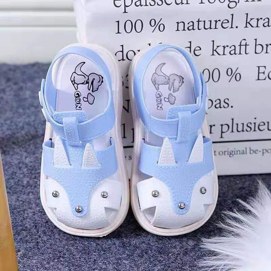子ども用 サンダル 靴 シューズ 女の子 女児 キッズ ベビー 子供用 バックストラップ 無地 うさぎモチーフ 動きやすい 歩きやすい春 夏 涼しい かわいい おしゃれ 8