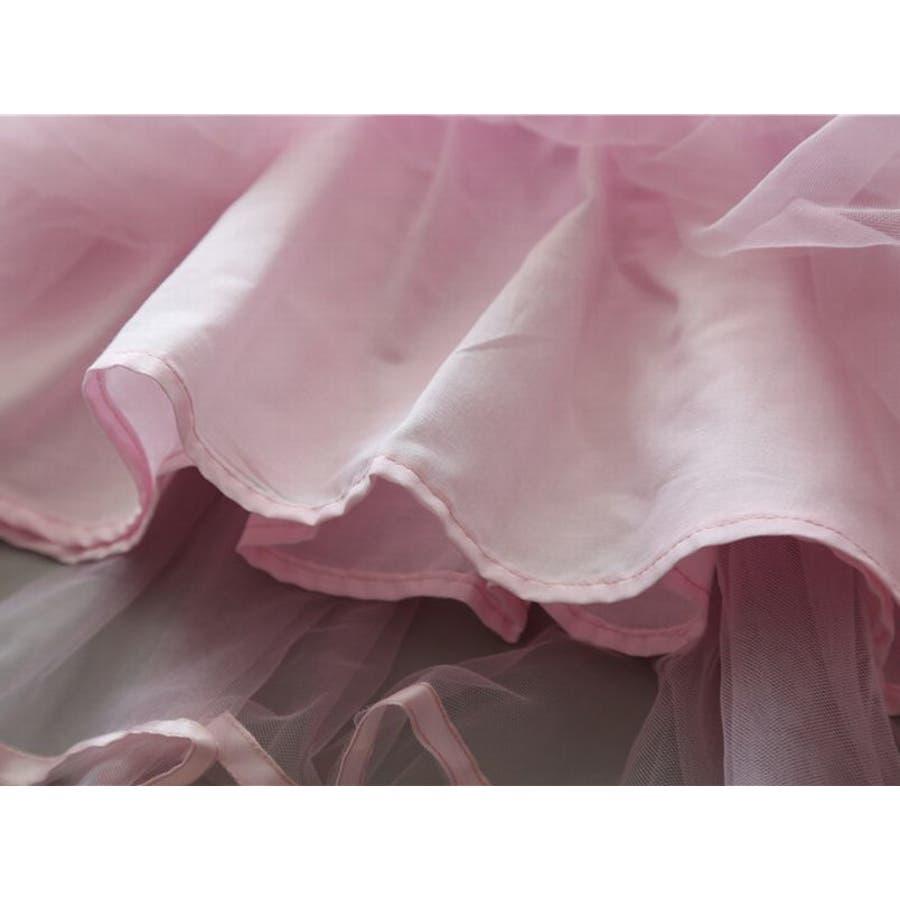 ワンピース キッズ ロングTシャツ 長袖 メッシュスカート チュールスカート シフォン かわいい お出かけ おしゃれ 女の子 10