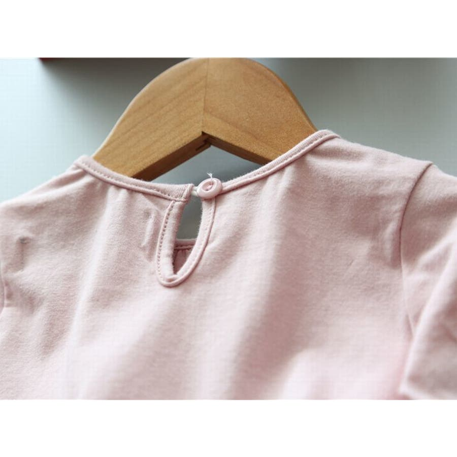 ワンピース キッズ ロングTシャツ 長袖 メッシュスカート チュールスカート シフォン かわいい お出かけ おしゃれ 女の子 9