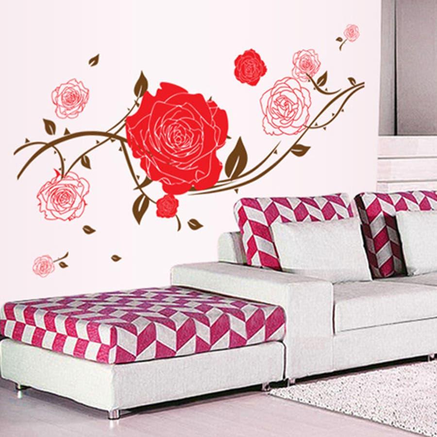 ウォールステッカー 壁紙 壁 ウォール シール 薔薇 ばら バラ ローズ