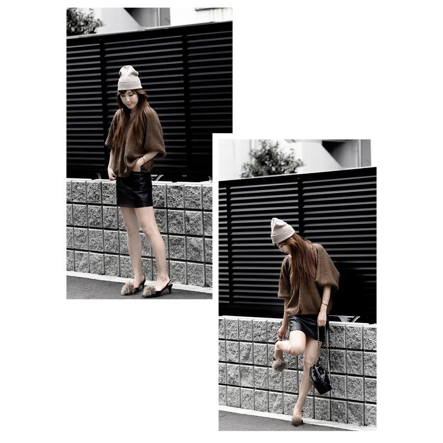 レディース スカート ボトムズ レザー 無地 楽チン 動きやすい タイトスカート ハイウエスト ミニスカート 大人 秋スカートポケット付き 裏地付き 裏地パンツ ブラック 合皮 伸びる素材 選べるサイズ S/M フェイクレザースカートサイズ S/Mフェイクレザースカート 7