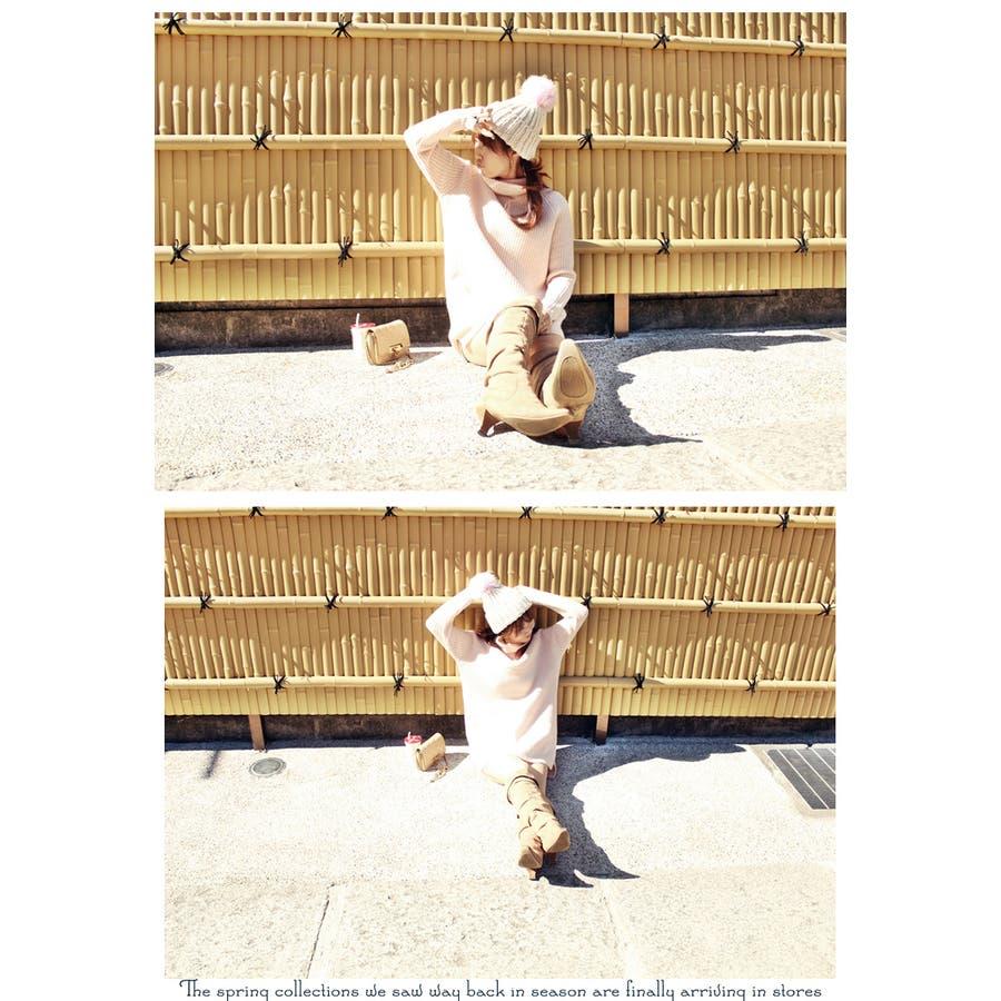 ウール ワンピース レディース ops ニットワンピ タートルネック セーター フォーマルワンピース ワンピ ロングニットニットワンピース 膝丈 サイドスリット ゆるニット ロング丈 ニット タートル 選べる色 ベージュ ピンクウールタートルネックロングニット 8