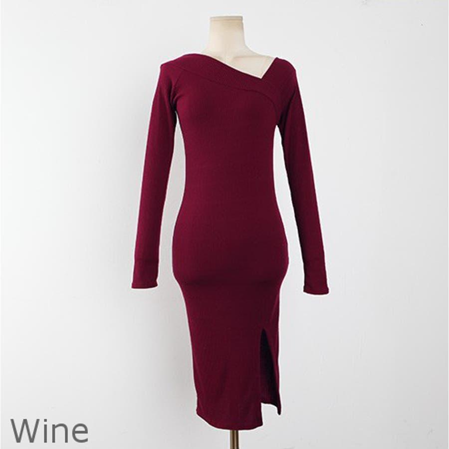 サイドVネックワンピース ドレス ワンピース 6