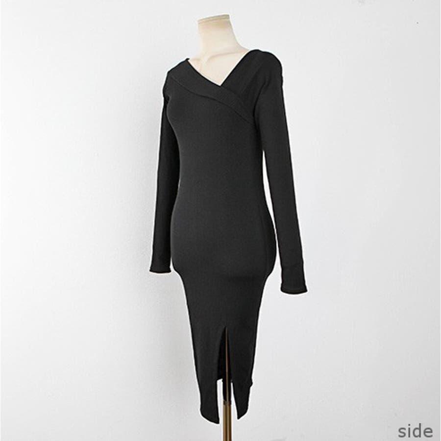 サイドVネックワンピース ドレス ワンピース 3