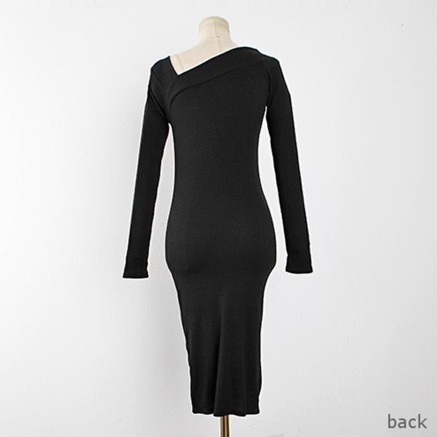 サイドVネックワンピース ドレス ワンピース 4