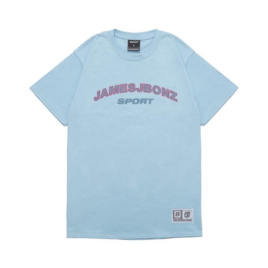 今注目されているらしい BONZ JAMES SPORT S S T-SHIRT  BLUE  Tシャツ 半袖 カジュアル トップス 2016S S 春夏 罵倒