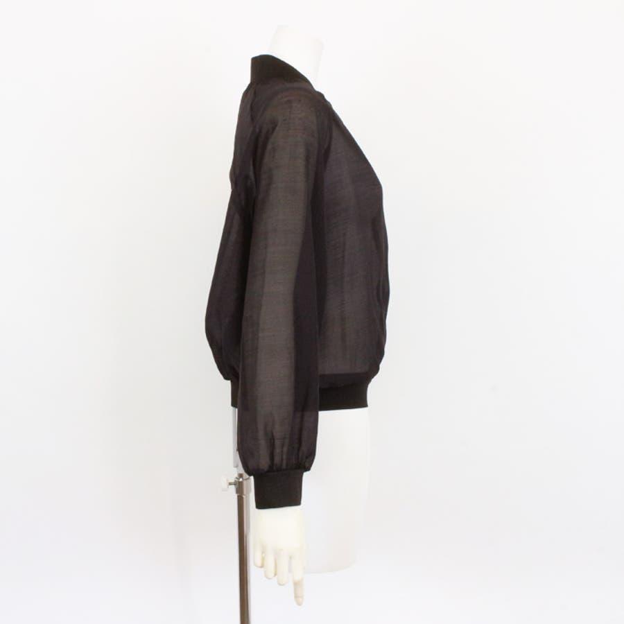 CAPGIRLSブルゾン レディース ジャケット 羽織 ライトアウター シースルー レイヤード 重ね着 長袖 春 夏 ホワイト ブラック 白 黒 シンプル カジュアル おしゃれ きれい かわいい ゆったり 体型カバー レース 刺繍 プリメイラクラッセ 10