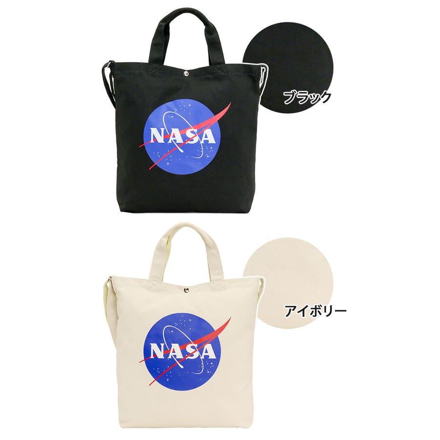 トートバッグ NASA ナサ ショルダートート 2way 斜め掛けショルダー キャンバストート 帆布 エコバッグ レディース 女の子女性 女子 かばん A4 B4 通勤 通学 学生 旅行 宇宙 インサイニア ミートボール 人気 大きめ NSC800 2