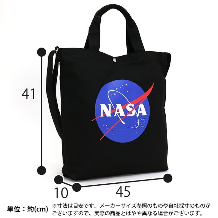 トートバッグ NASA ナサ ショルダートート 2way 斜め掛けショルダー キャンバストート 帆布 エコバッグ レディース 女の子女性 女子 かばん A4 B4 通勤 通学 学生 旅行 宇宙 インサイニア ミートボール 人気 大きめ NSC800 5