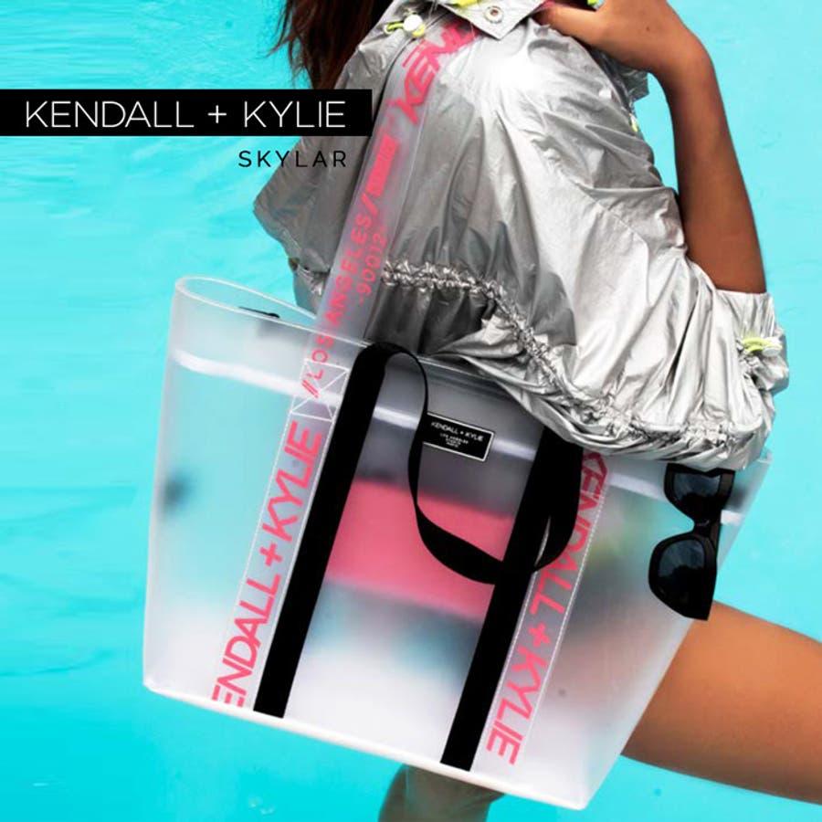 ケンダルアンドカイリー レディース バッグ Kendall+Kylie SKYLAR スカイラー トートバッグ ハンドバッグ クリアシースルー スケルトン 1