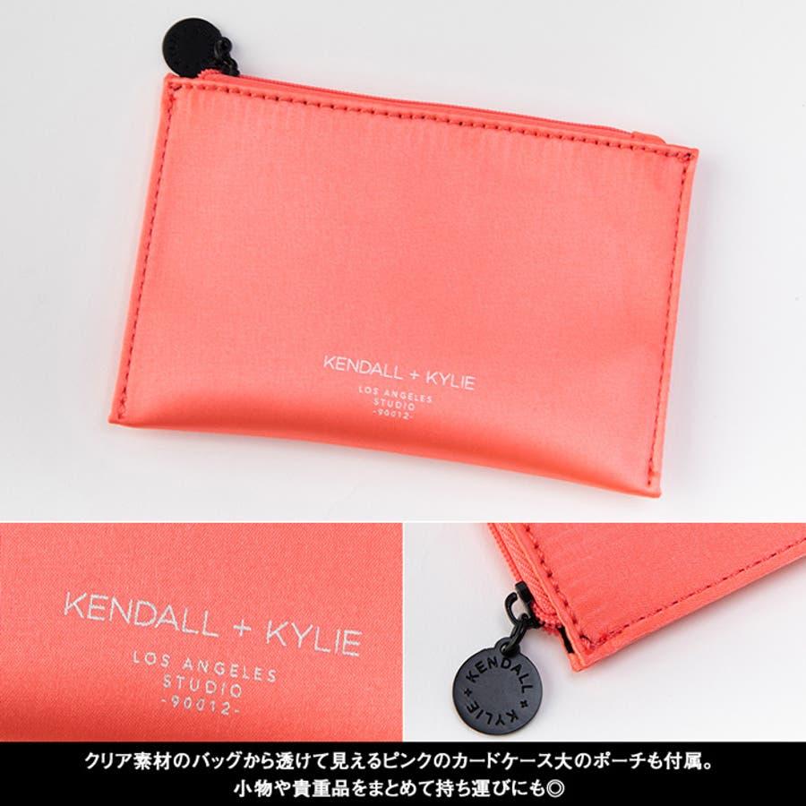 ケンダルアンドカイリー レディース バッグ Kendall+Kylie SKYLAR スカイラー トートバッグ ハンドバッグ クリアシースルー スケルトン 4
