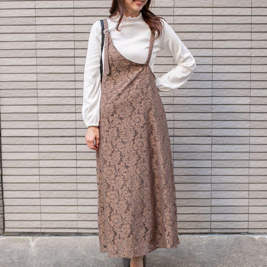 総レース ワンショルダー風アシメジャンパースカート 29