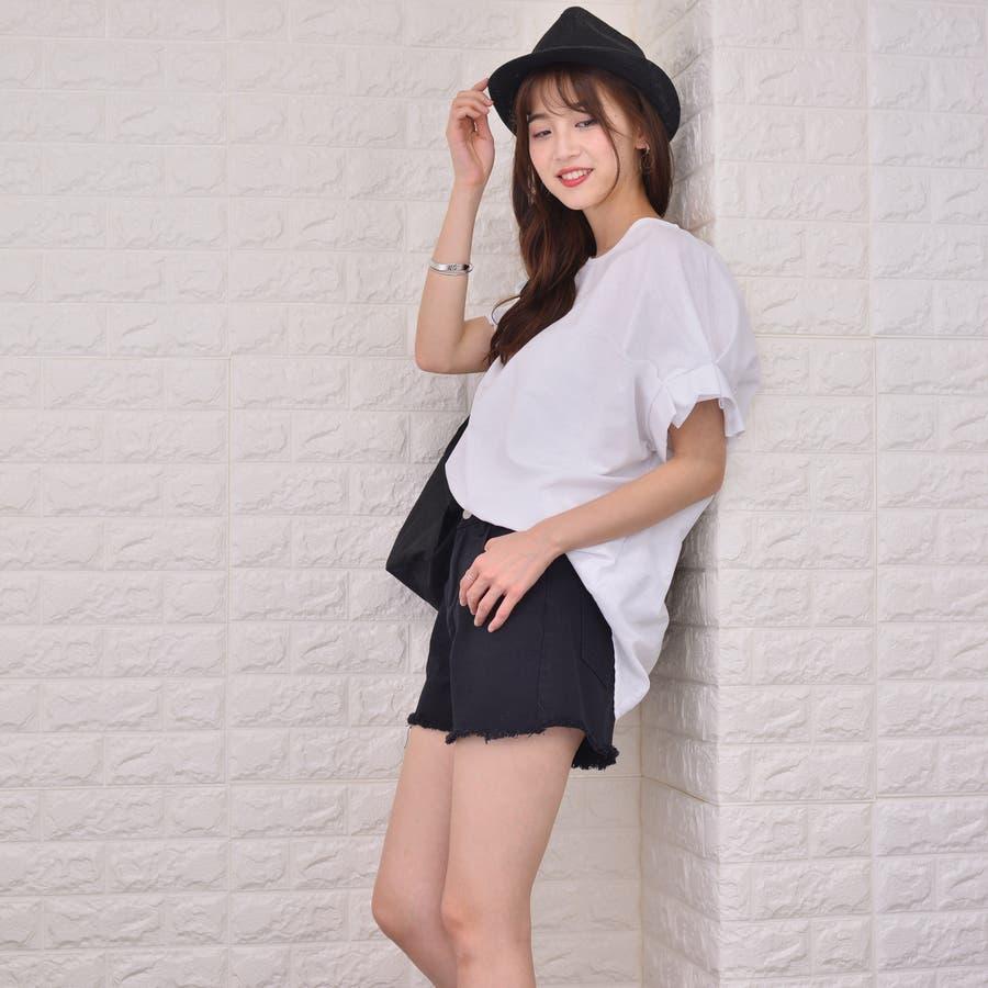 裾キリッパ デニム&カツラギ ショートパンツ 4