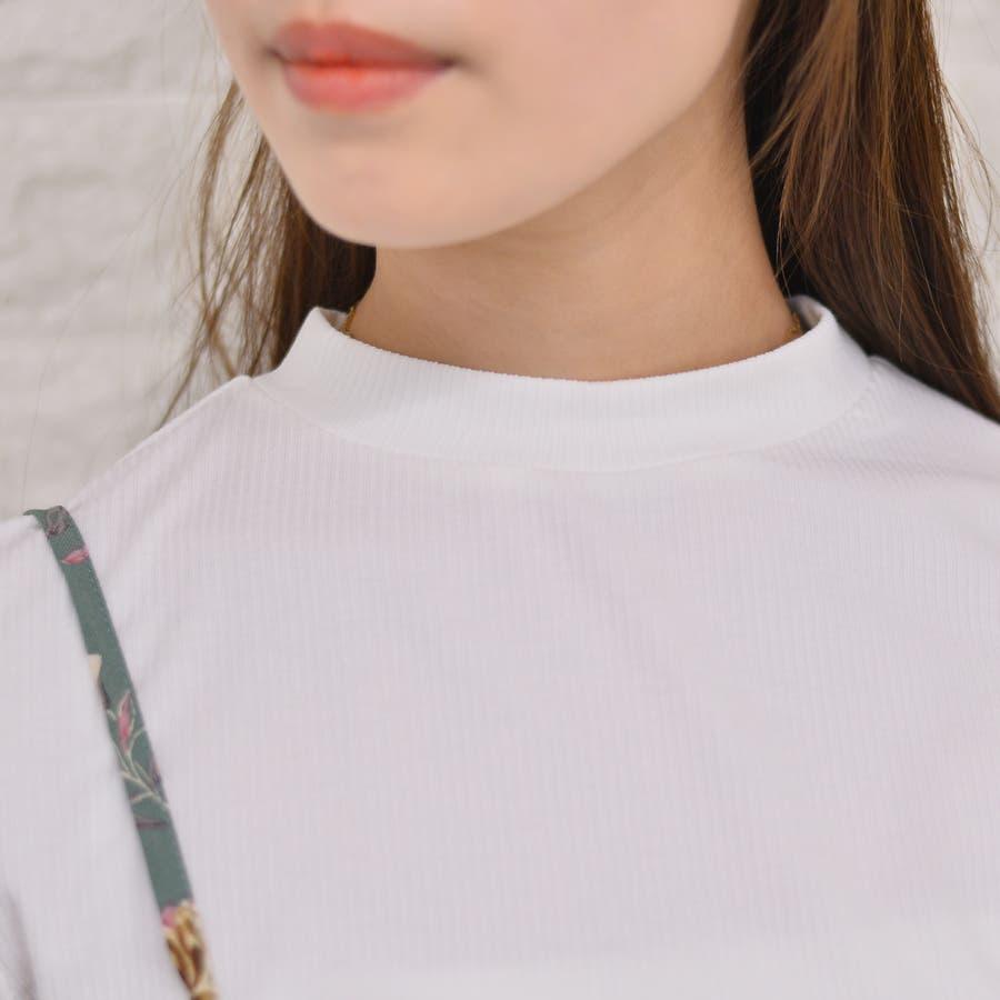 テレコ プチハイネックTシャツ+花柄キャミソール(Set) 6
