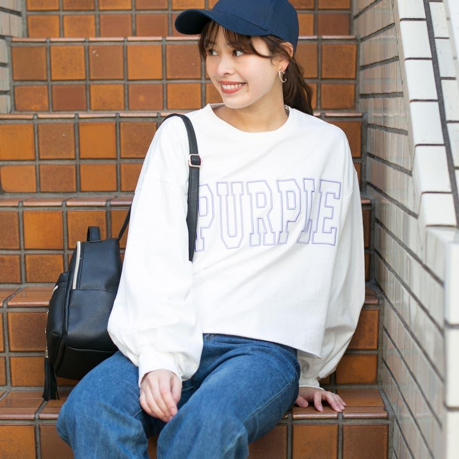 コットン フロント刺繍ロゴ入り 裾切りっぱなしショート丈 BIGTシャツ 16