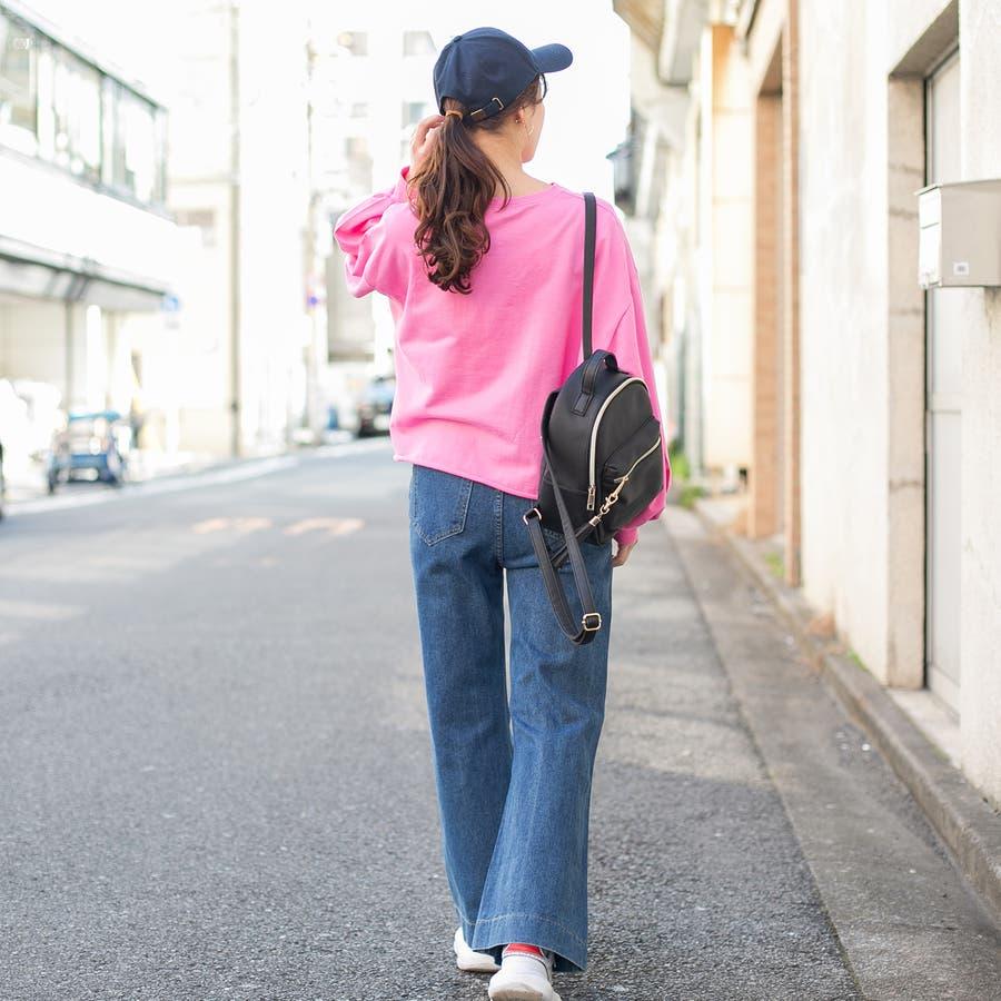 コットン フロント刺繍ロゴ入り 裾切りっぱなしショート丈 BIGTシャツ 3