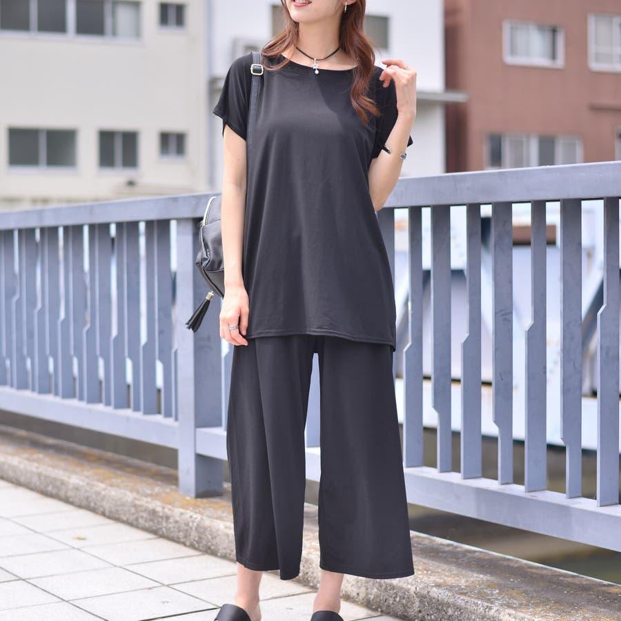 ポリエステルストレッチ BIGTシャツ+ワイドパンツ(Set up) 21