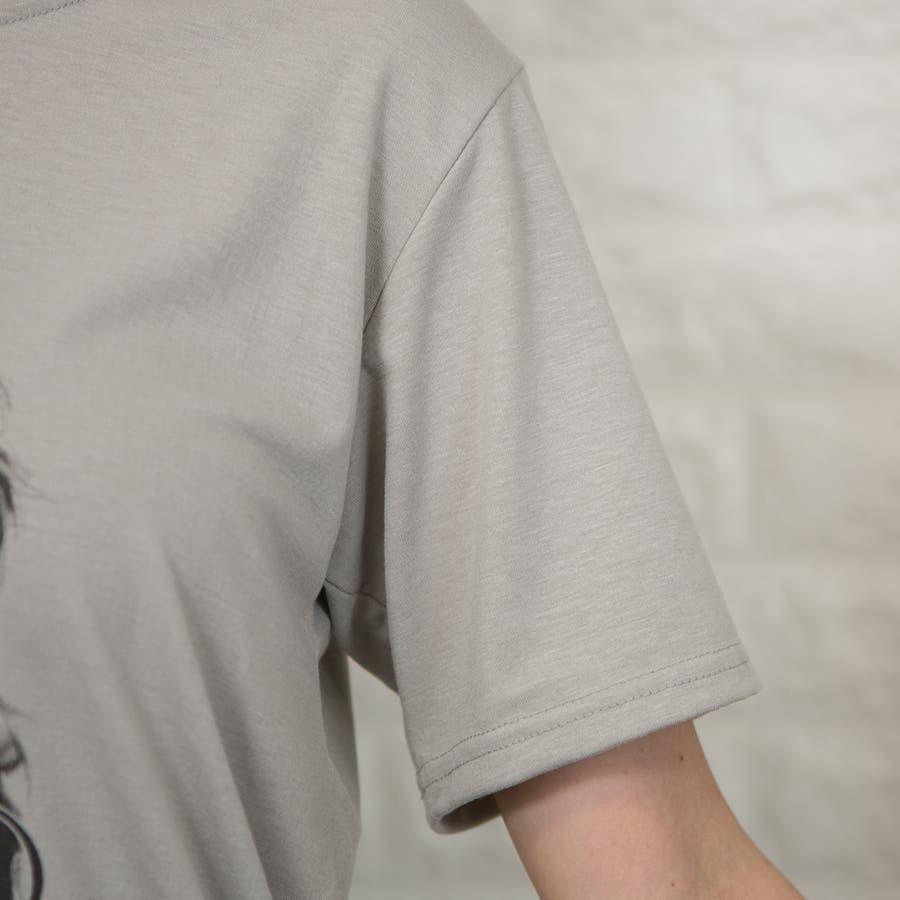 ストレッチ フロントフォトプリント(女性)入り Tシャツ 8