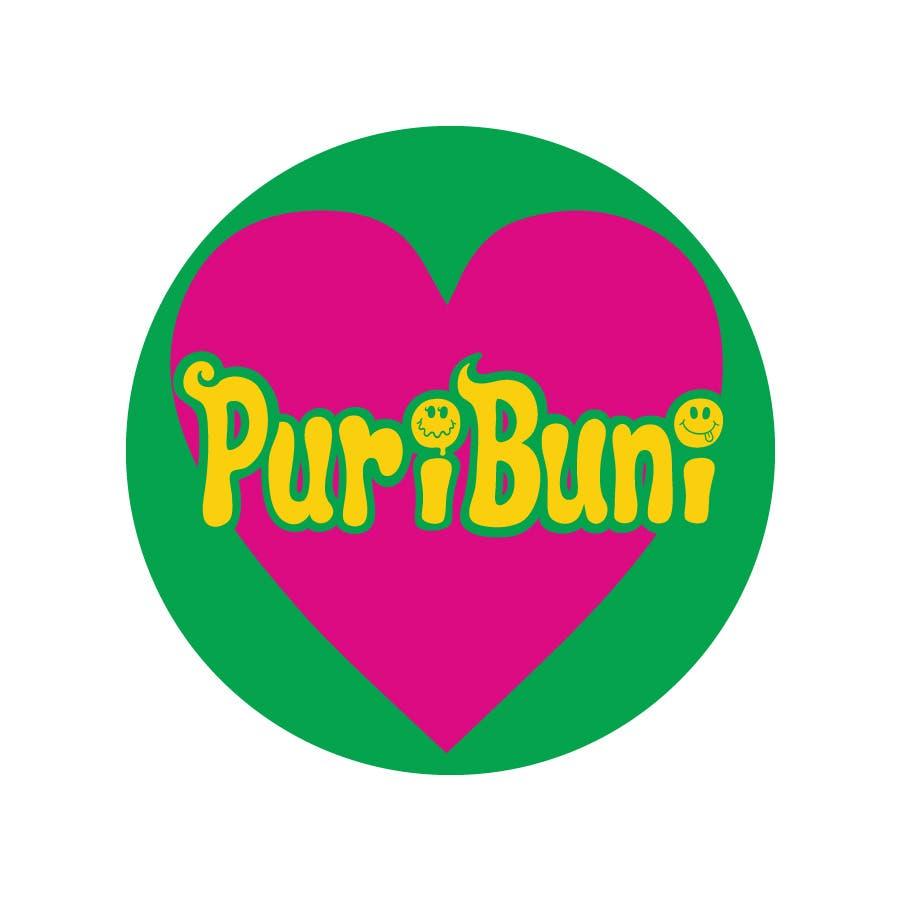 缶バッチ 44mm 缶バッジ canバッチ ロゴ puribuni グリーン 1