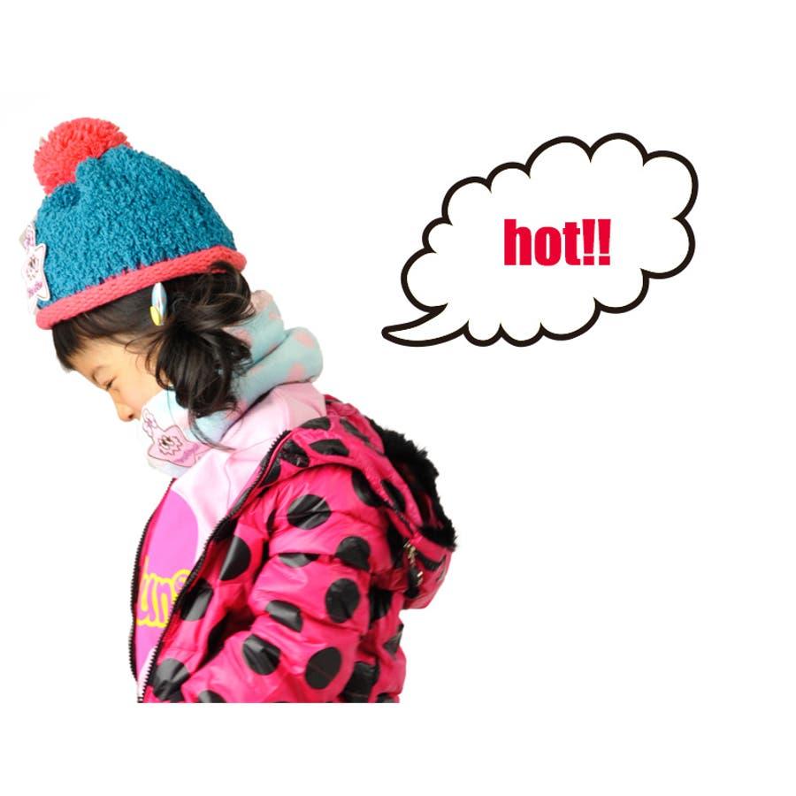 ネックウォーマー キッズ ジュニア 子供 防寒 ドット 水玉 女の子 Sサイズ Mサイズ 5