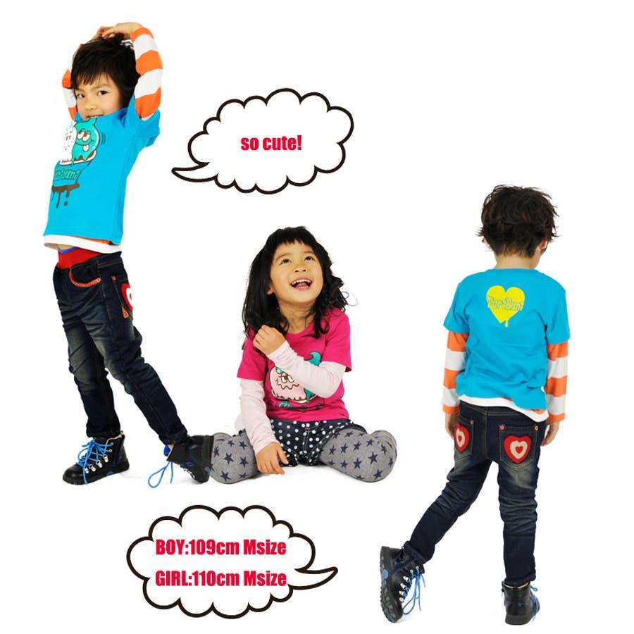 こども トップス Tシャツ キッズ ジュニア サイズで探す 100cm 110cm 130cm 子供服 女の子 男の子 半袖アイスクリーム tシャツ 5